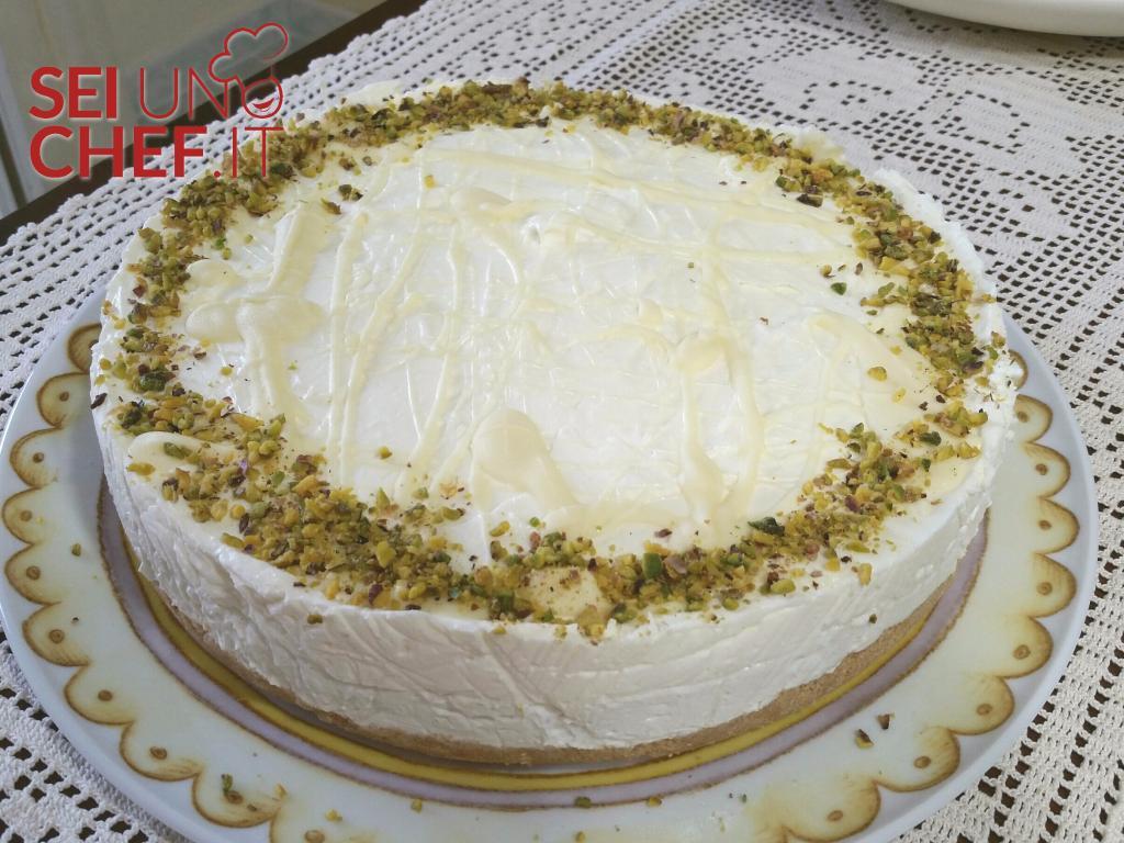 Cheesecake Al Pistacchio E Cioccolato Bianco