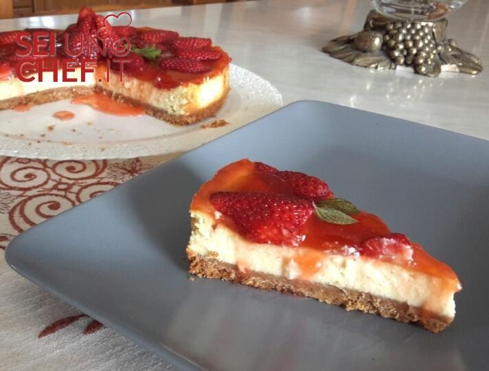 Ricetta Cheesecake Cotta.Seiunochef It Cheesecake Cotta Alle Fragole